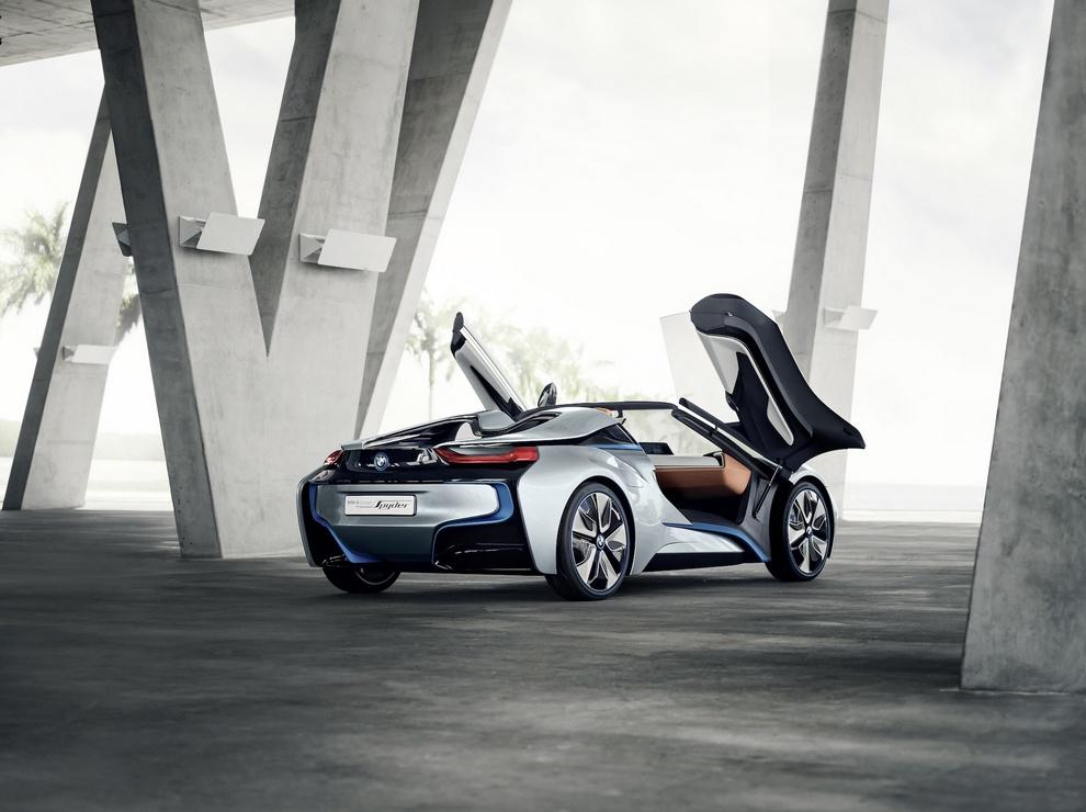 Леденящая грация: Гибридный родстер i8 Spyder от BMW (25 фото)