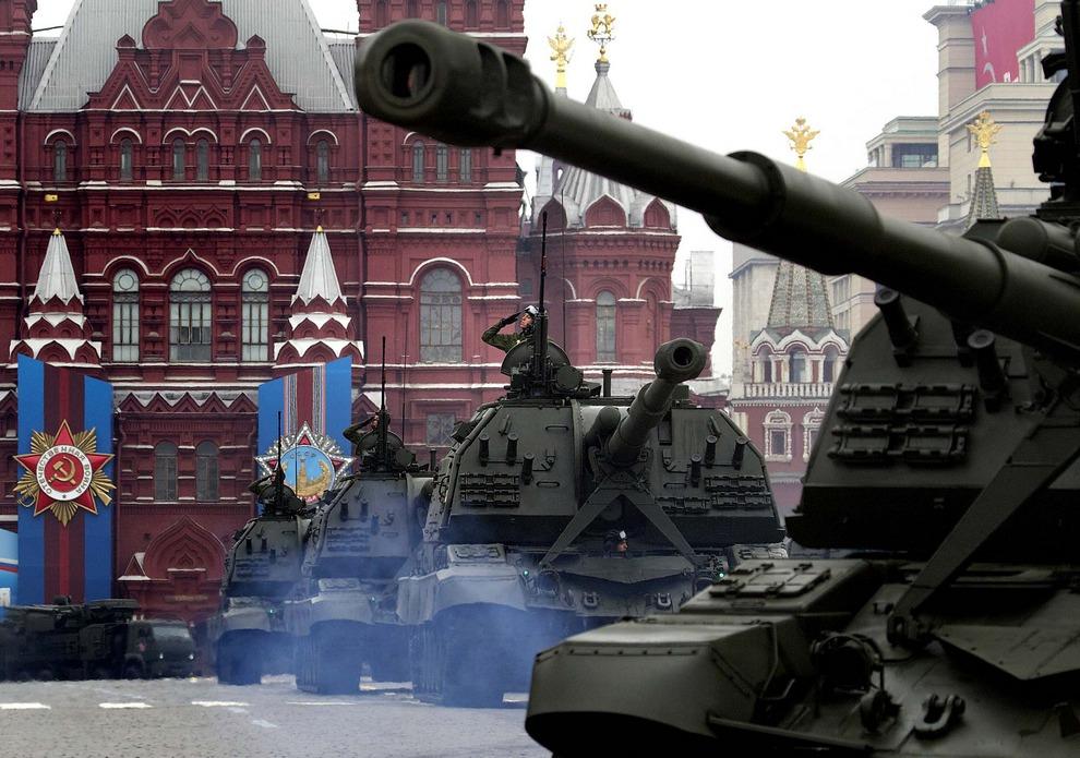 Парад Победы на Красной площади, Москва, Россия. (Ivan Sekretarev/Associated Press)