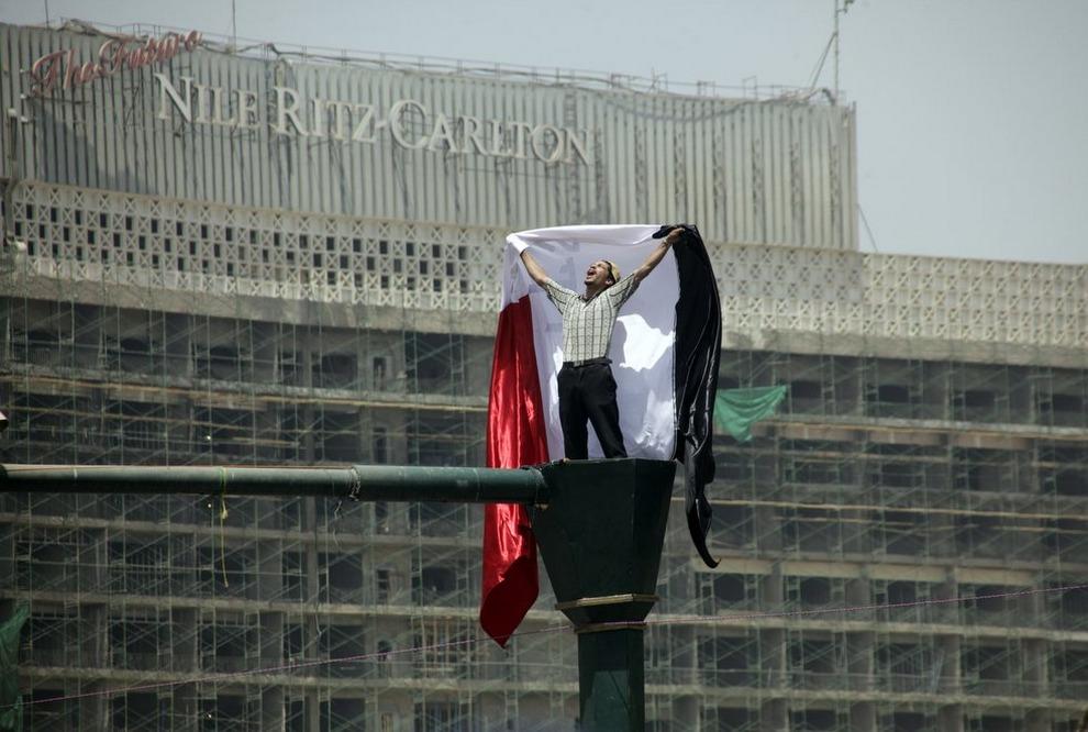 Марш против военного режима на площади Тахрир в Каире, Египет, 4 мая 2012. (AP Photo/Amr Nabil)