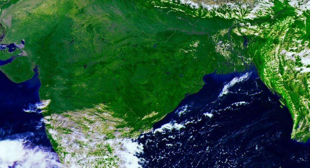 Территория Индии и близлежащих стран. (Электро-Л/Роскосмос)