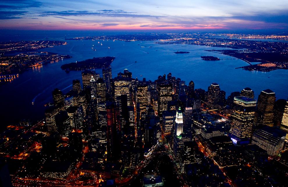 Нью-Йорк и Лас-Вегас с высоты птичьего полета (16 фото)
