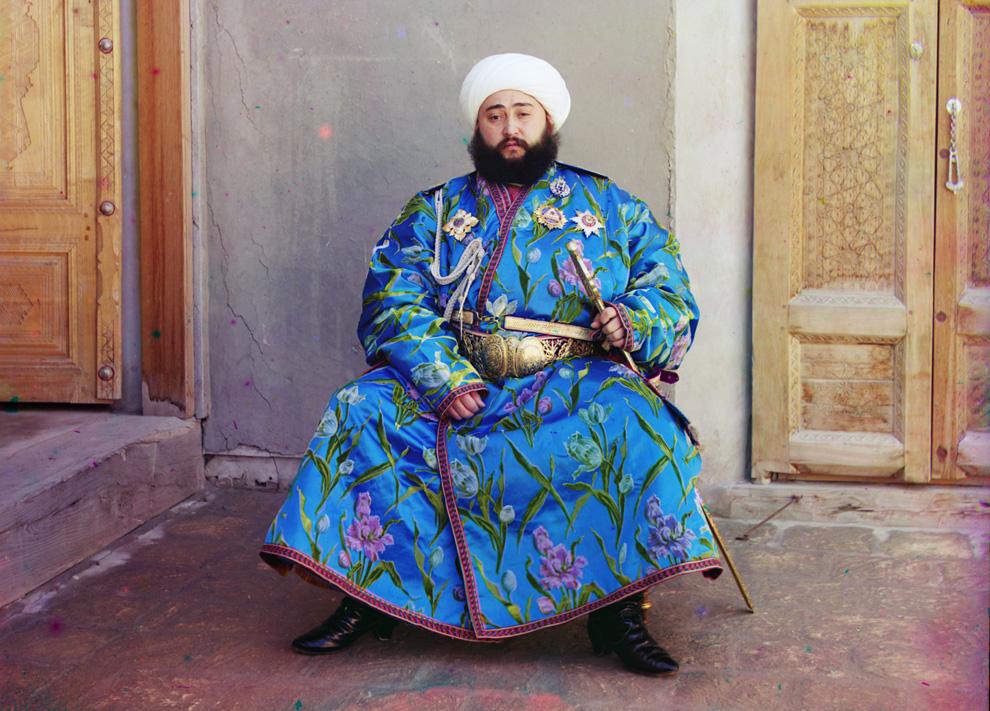 Эмир Бухары по имени Сэйид Мир Мохаммед Алим Хан, 1910 год. (Prokudin-Gorskii Collection/LOC)