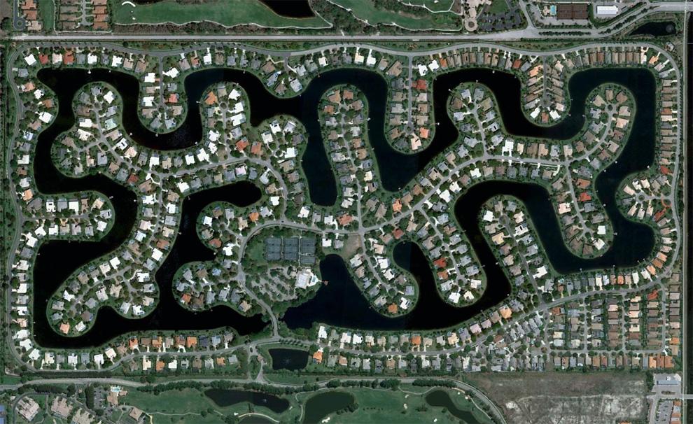 Рукотворные пейзажи Флориды (26 фото)