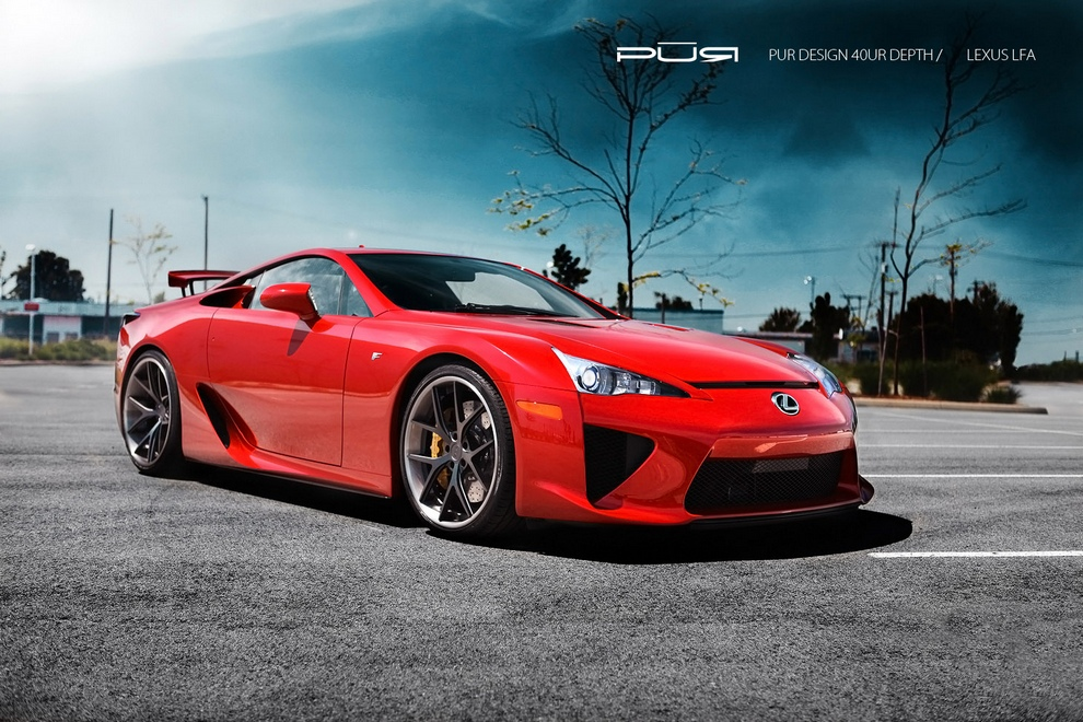 Lexus LFA Project Reignfire. (Toyota Motor Corporation/PUR Wheels)