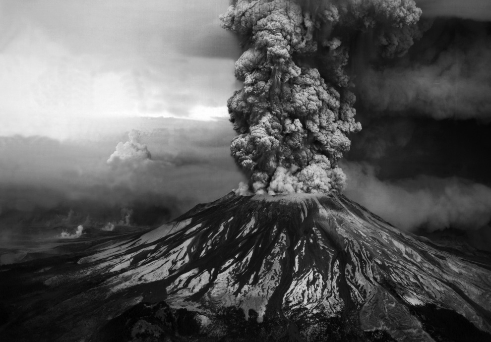 Извержение стратовулкана Сент-Хеленс 1980 года (20 фото)
