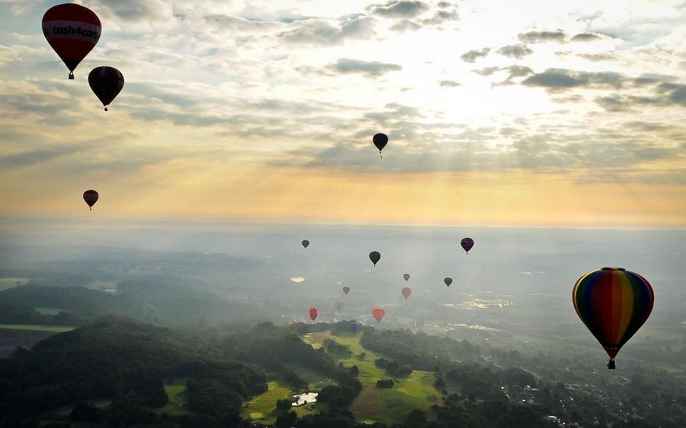 Фестиваль воздушных шаров в Бристоле (12 фото)