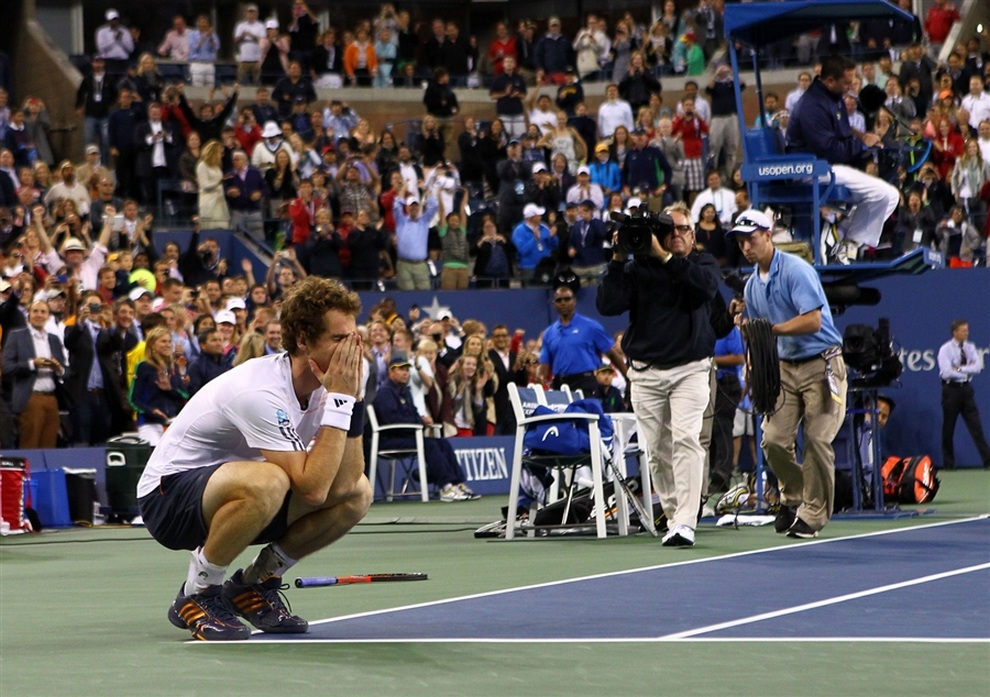 Первый триумф Энди Маррея на турнирах «Большого шлема». (Michael Heiman/Getty Images)