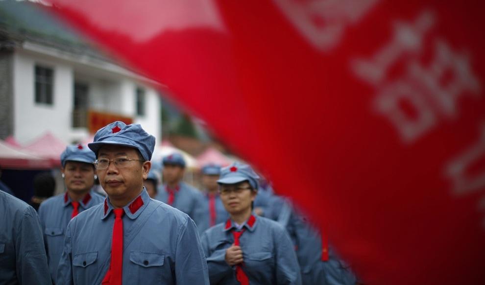 Курсы повышения квалификации для китайских коммунистов, Цзинганшань, провинция Цзянси, Китай. (REUTERS/Carlos Barria)