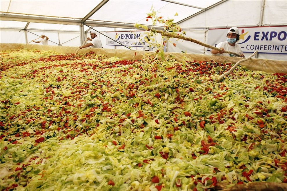Самый большой в мире овощной салат (12 фото)
