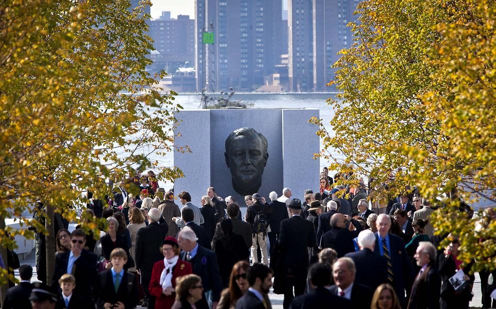 В Нью-Йорке открыли мемориальный парк Франклина Рузвельта (6 фото)
