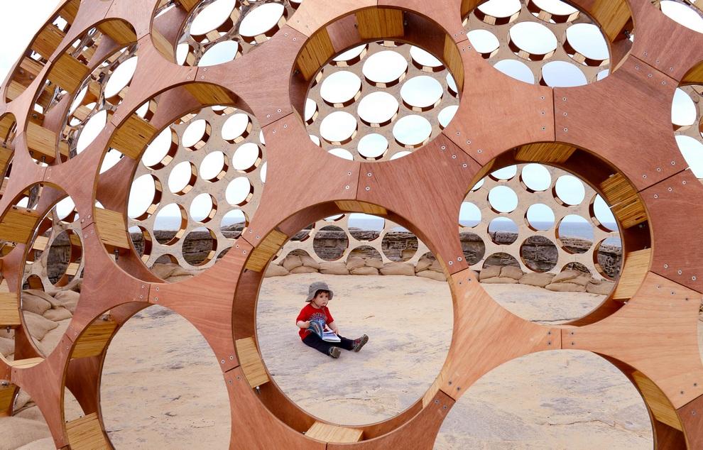 Выставка «Скульптуры у моря» в Сиднее, Австралия. (WILLIAM WEST/AFP/Getty Images)