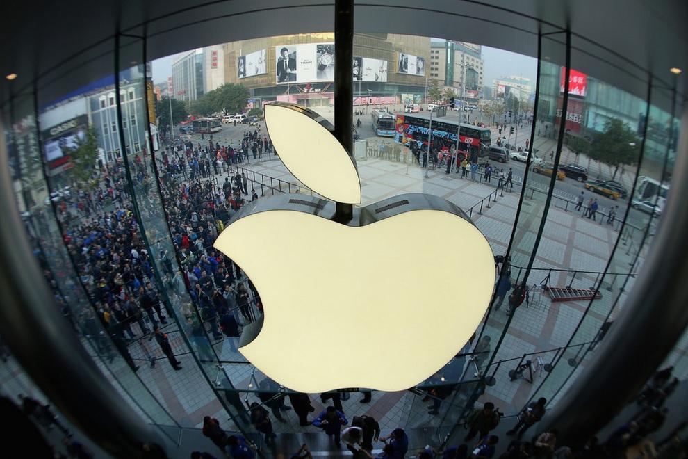 Apple открыла флагманский магазин в Пекине (15 фото)