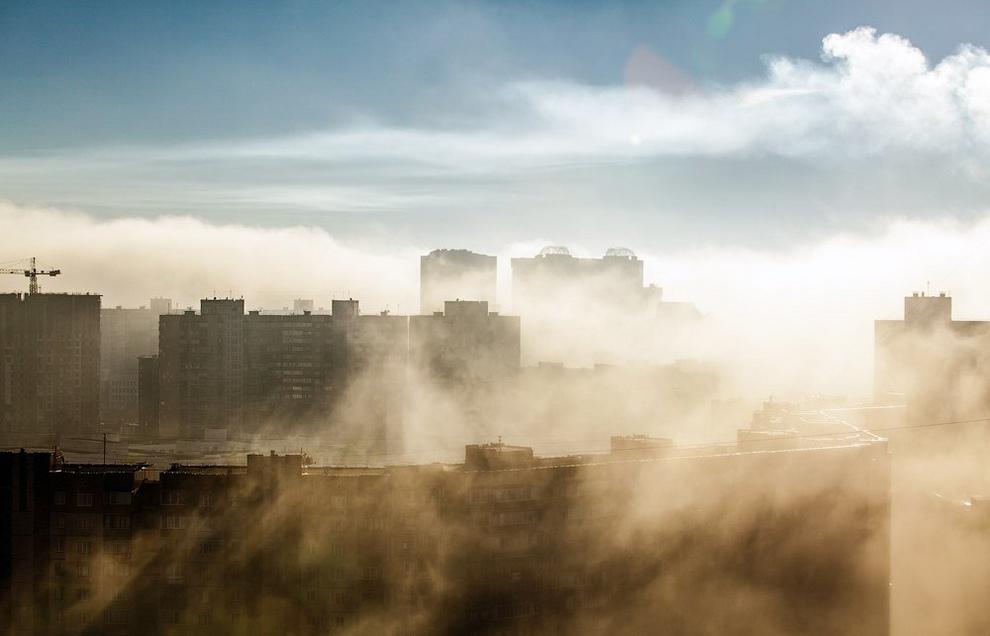 Окутанный осенним туманом Киев (13 фото)