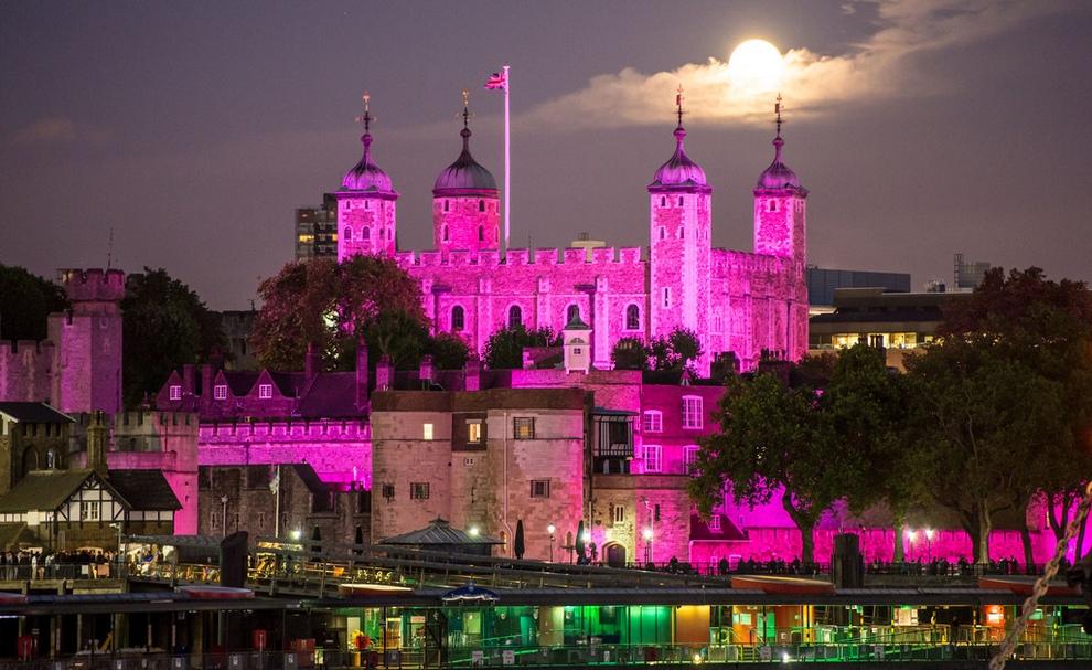 Лондон в розовом цвете в рамках кампании по предотвращению рака молочной железы (17 фото)