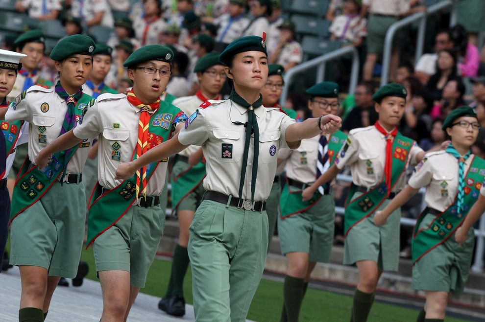 Съезд скаутов в Гонконге. (SCMP/Nora Tam)