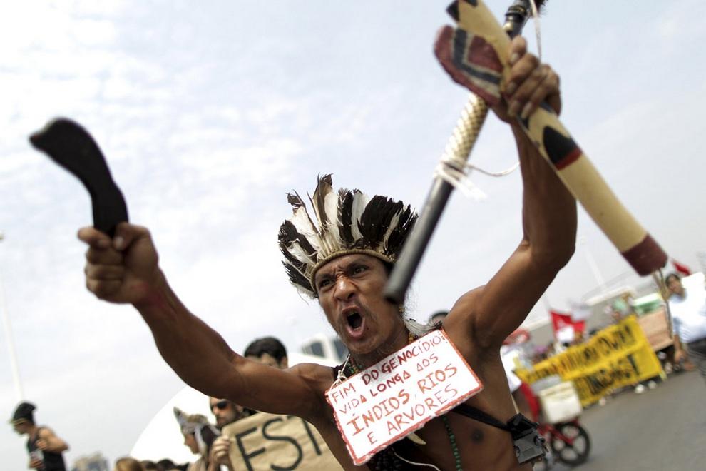 Борьба за священную землю гуарани-кайова (8 фото)