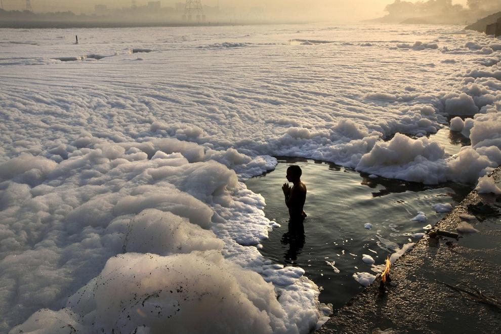 Картика-пурнима и экологическая катастрофа на Джамне (8 фото)