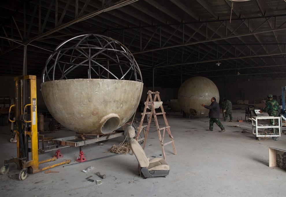 Сфера из бетона