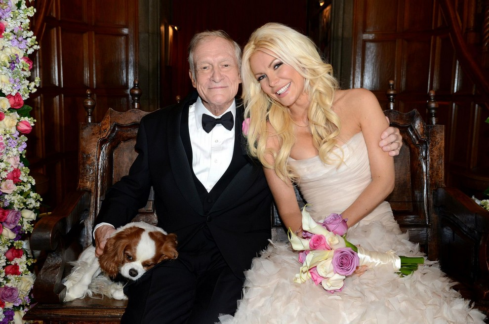 Свадьба 86-летнего Хью Хефнера и 26-летней Кристал Харрис (4 фото)