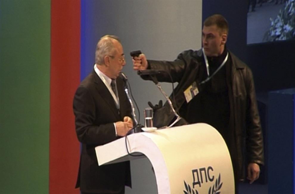 Покушение на болгарского политика Ахмеда Догана (7 фото + видео)