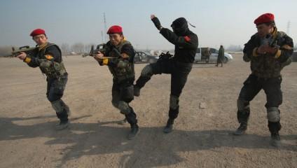 Подготовка элитных китайских телохранителей (4 фото)