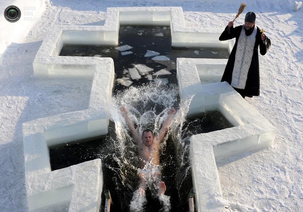Купание на крещение все фото