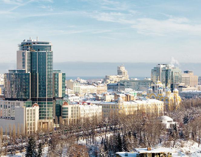 Зимний Киев глазами птиц (10 фото)