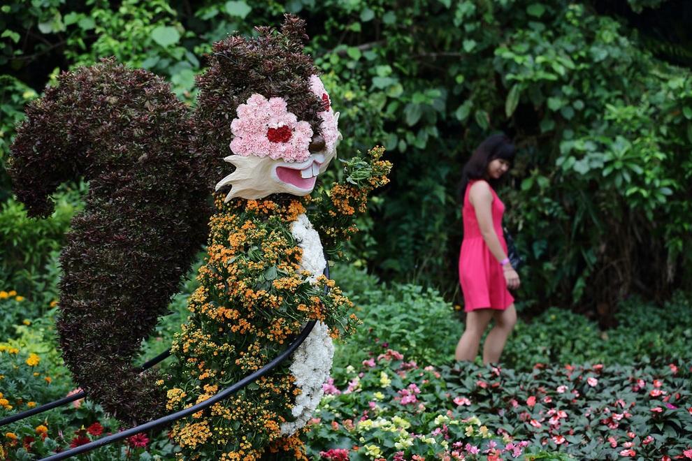 Сингапурская выставка Sentosa Flowers 2013 (12 фото)
