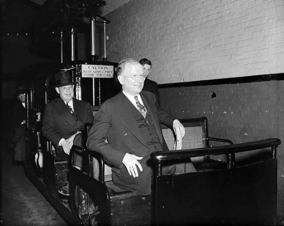 Исторические кадры сенатского мини-метро в Вашингтоне (8 фото)