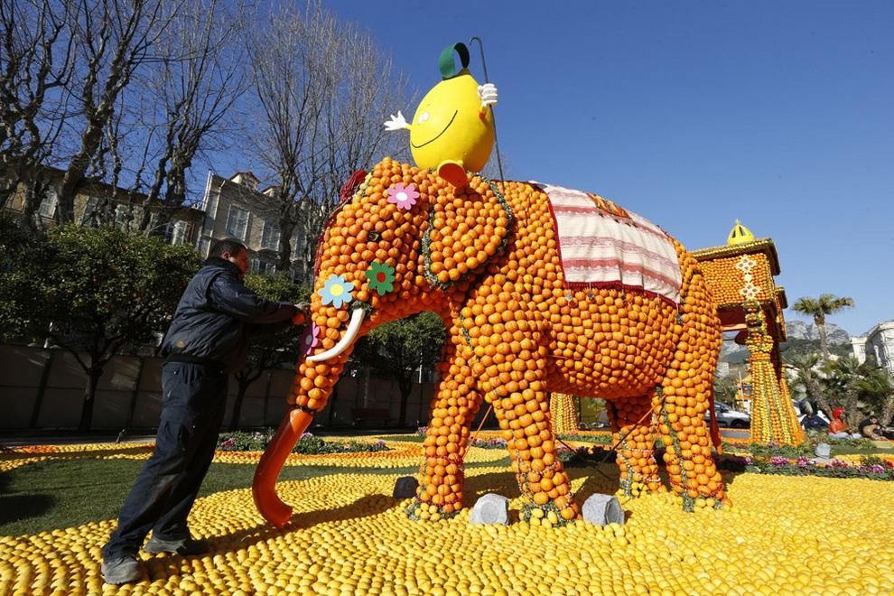 «Фестиваль лимонов» на Лазурном Берегу (7 фото)