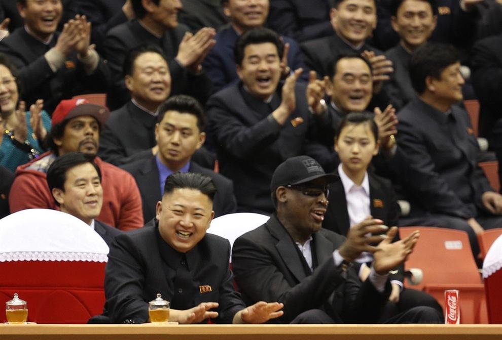 Деннис Родман встретился с лидером КНДР Ким Чен Ыном (2 фото)