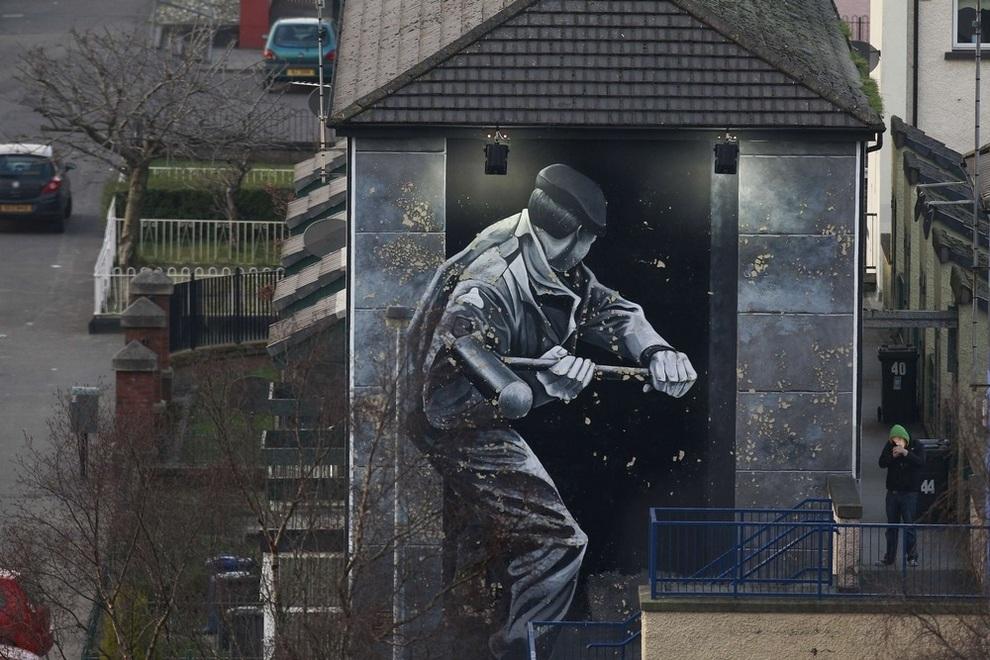Стрит-арт в Северной Ирландии (9 фото)