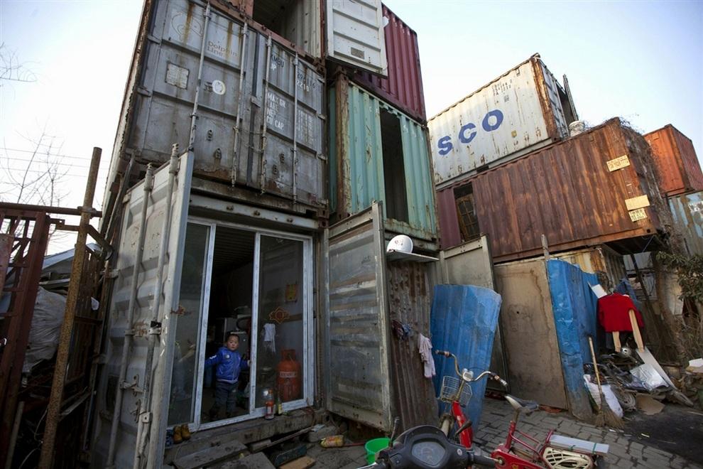 Шанхайский квартал контейнеров