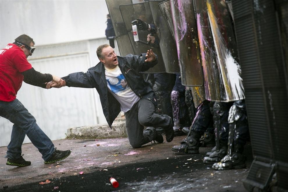 Протесты работников Goodyear