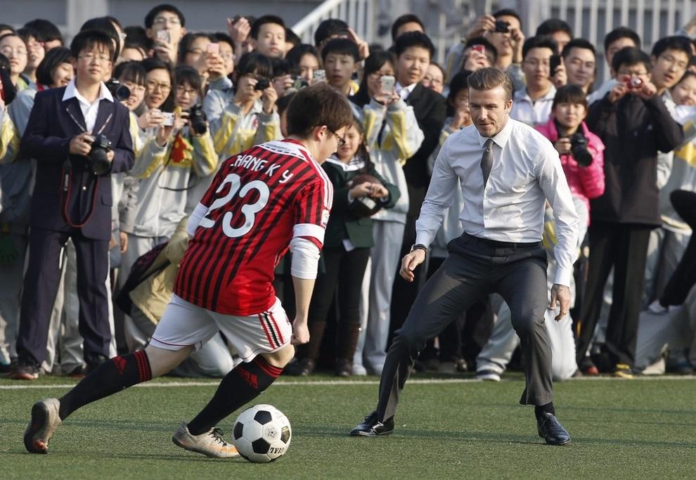 Дэвид Бекхэм в Китае