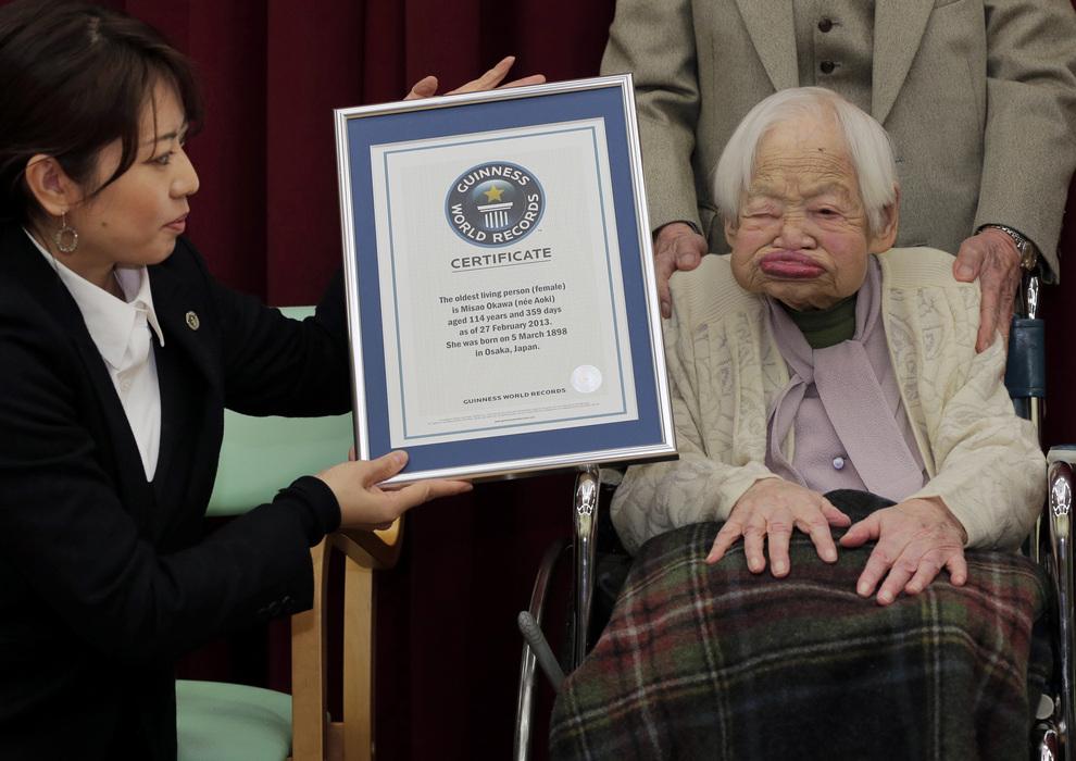Завтра день рождения у самой пожилой женщины на Земле (2 фото)