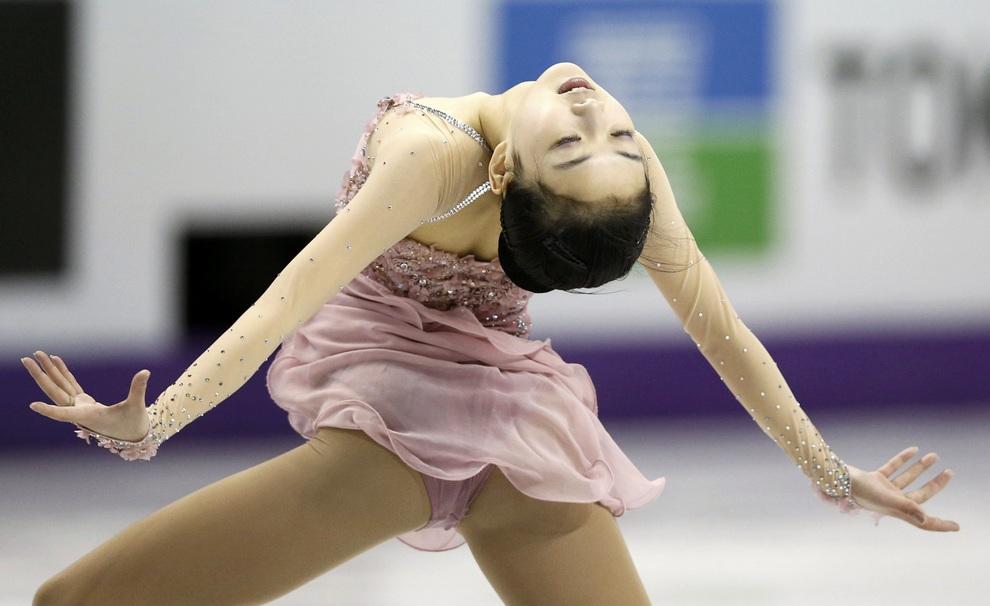 Li Zijun of China performs during the ladies free skating at the ISU World Figure Skating Championships in London, Ontario