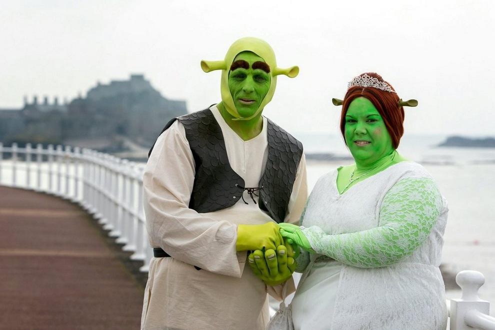 Свадьба в стиле «Шрека» (5 фото)