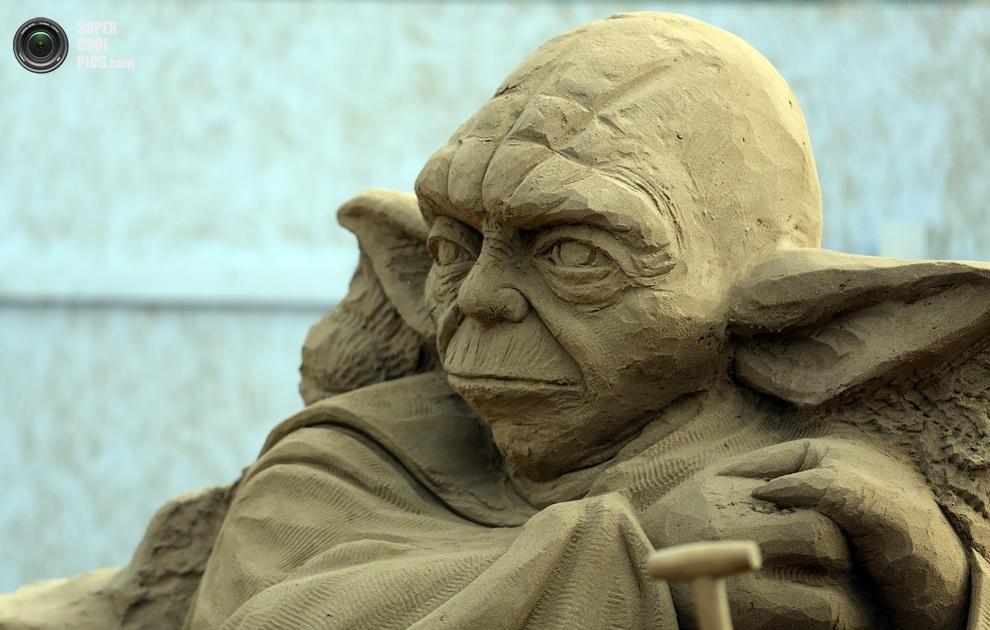 Йода — мудрейший джедай всех времен, Уэстон-сьюпер-Мэр, Северный Сомерсет, Англия. (Matt Cardy/Getty Images)