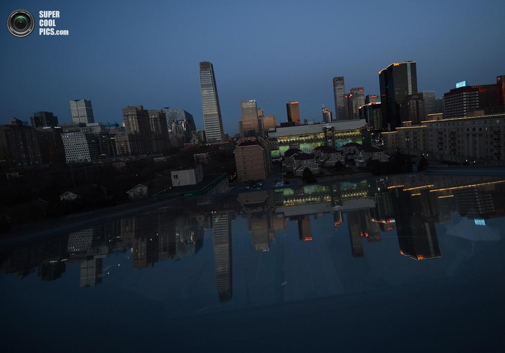 Центральный деловой район, Пекин, Китай. (Mark Rolston/AFP/Getty Images)