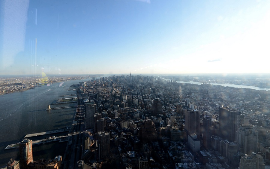 Смотровая площадка строящейся «Башни свободы» в Нью-Йорке (7 фото)