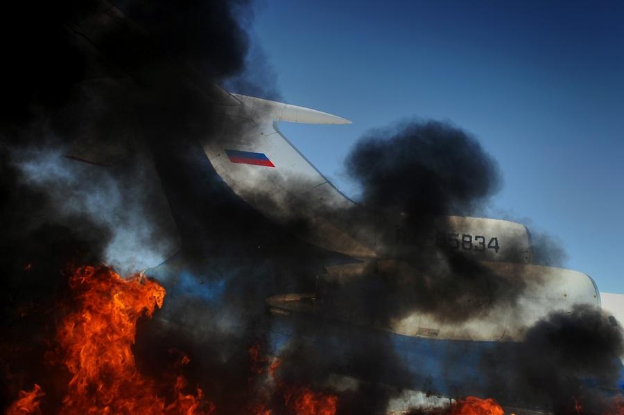 Аварийно-спасательные учения в аэропорту «Пулково» (11 фото)