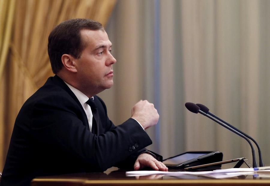 Дмитрий Медведев провёл заседание правительства РФ и встретился с членами партии «Единая Россия» (7 фото)