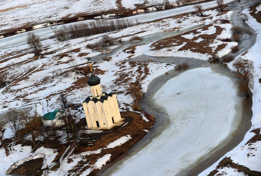 Рейд МЧС по выявлению паводковой ситуации во Владимирской области (8 фото)
