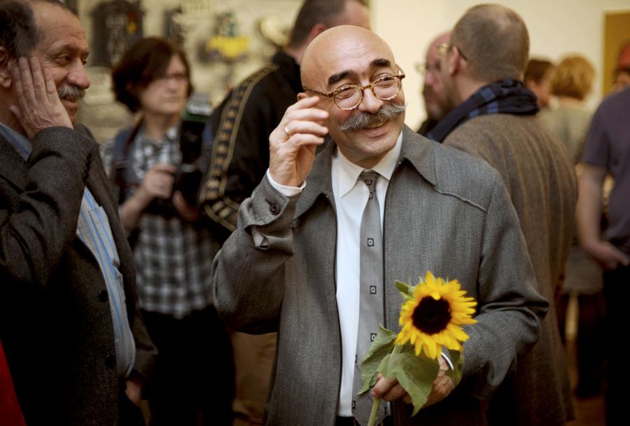 Открытие выставки карикатур Андрея Бильжо в ММСИ (10 фото)
