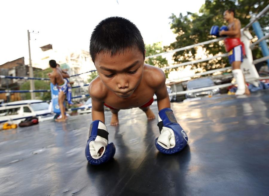 Детский бокс в Таиланде (12 фото)