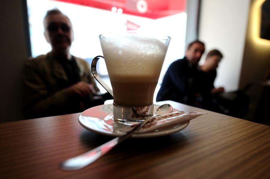 Открытие кофейни Lavazza Espression в Москве (9 фото)