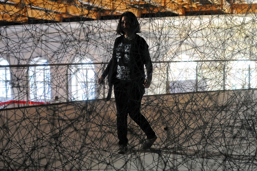 Выставка Тихару Сиоты «Скрещенья» в ЦВЗ «Манеж» (7 фото)