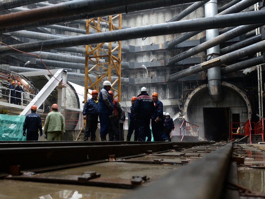 Строительство станции метро «Ходынское поле» (9 фото)