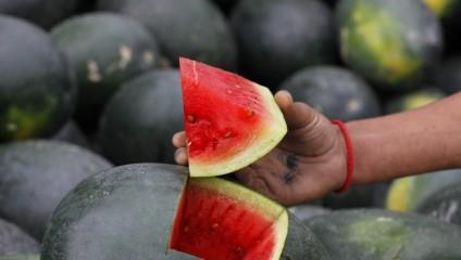 Пакистанцы открыли сезон арбузов (3 фото)